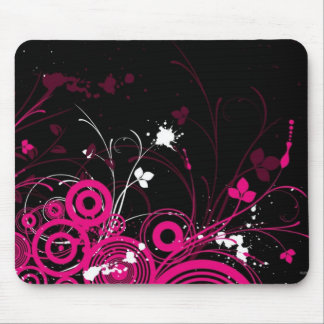 Black and Pink Tattoo Mouse Pad