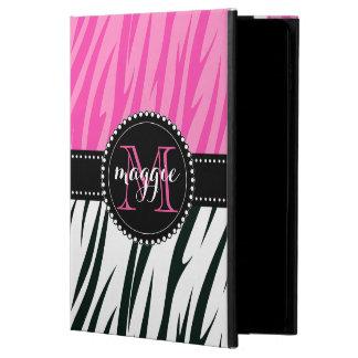 Black and Pink Zebra Print Custom Monogram girly