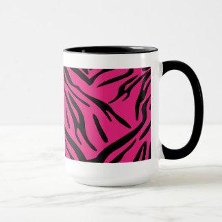 Black and Pink Zebra Stripe Mug