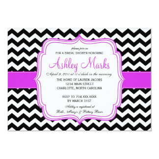 "Black and purple 5"" x 7"" invitation card"