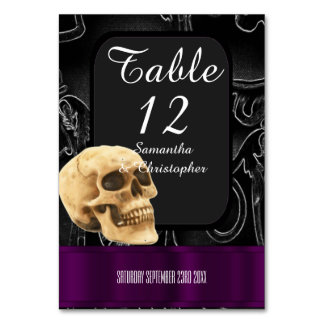Black and purple Gothic fantasy skull Card