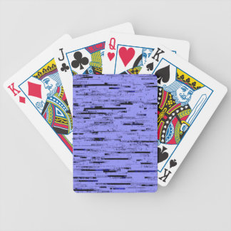 Black and purple lines art old wall bricks pattern bicycle playing cards