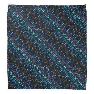 Black and Purple Pattern Kerchiefs