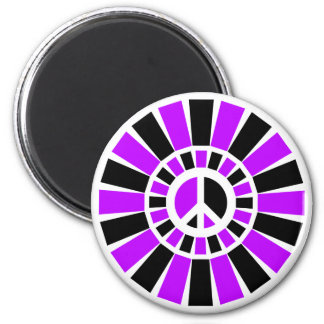 BLACK AND PURPLE PEACE SIGN MAGNET