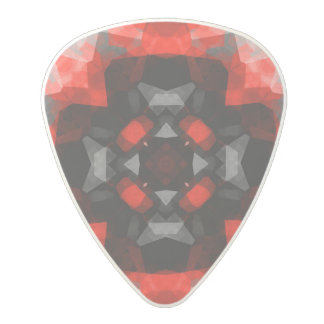 Black and Red abstract Polycarbonate Guitar Pick