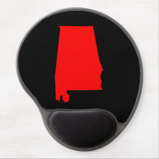 Black and Red Alabama Gel Mouse Pad