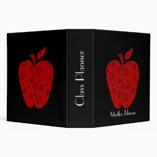 Black and Red Apple Teacher's Class Planner Binders