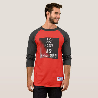 Black and Red 'As easy as breathing' long sleeved T-Shirt