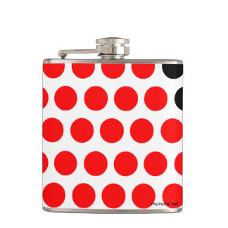 Black and red balls flasks