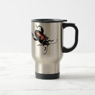 Black and Red Beetle bug Travel Mug