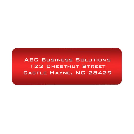 Black and Red Business Return Address Sticker