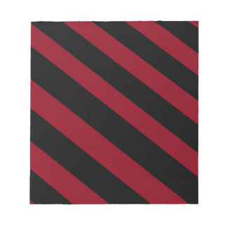 Black and Red Diagonals Notepad