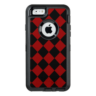 Black and Red Diamond Checker Print OtterBox iPhone 6/6s Case