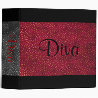 Black and Red Diva Notebook Binder