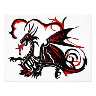 BLACK AND RED DRAGON LETTERHEAD DESIGN
