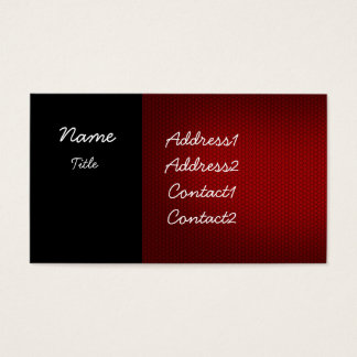 Black and Red Elegant Business Card