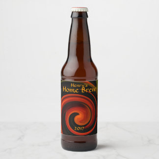 Black and Red Energy Abstract Beer Label