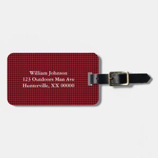 Black and Red Gingham Luggage Tag