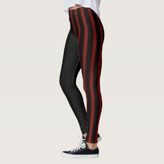 Black and Red Jester Leggings