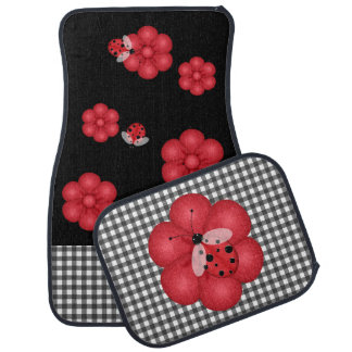 Black and Red Ladybug Car Mats Car Carpet