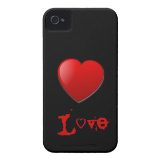 Black and Red Love Blackberry Case