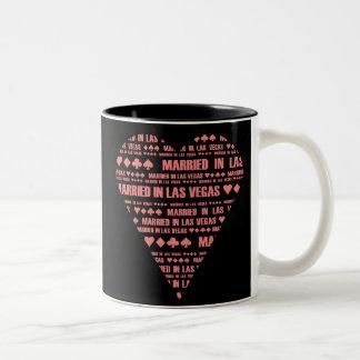 Black and Red Married in Las Vegas mug