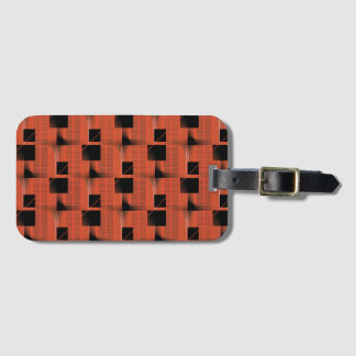 Black and Red Pattern Luggage Tag