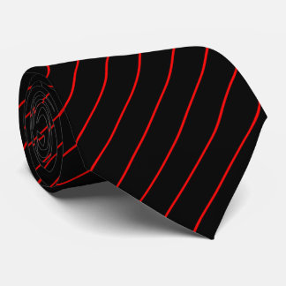 Black and Red Pinstripe Tie
