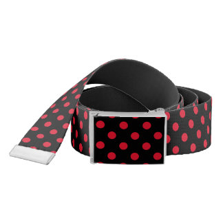 black and red polka dots belt
