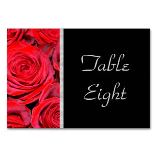 Black and Red Roses Card