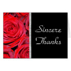Black and Red Roses Thank You Card