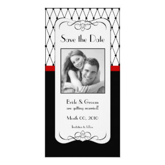Black and Red Save the Date Photo Cards