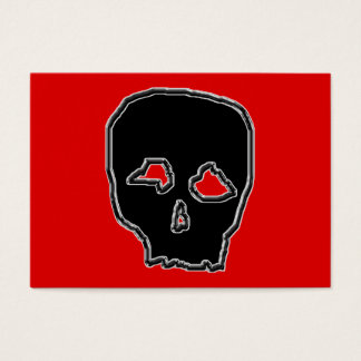 Black and Red Skull. Business Card