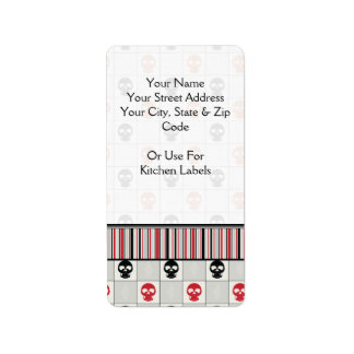 Black And Red Skulls Pattern With Border