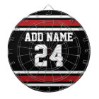 Black and Red Sports Jersey Custom Name Number Dartboard