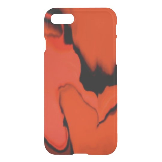 Black and Red Stain iPhone 7 Case