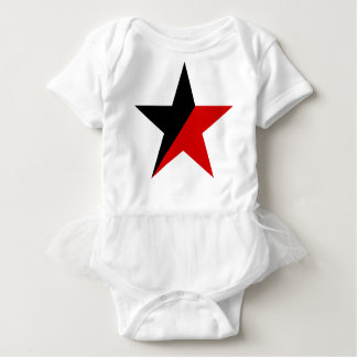 Black and Red Star Anarcho-Syndicalism Anarchism Baby Bodysuit