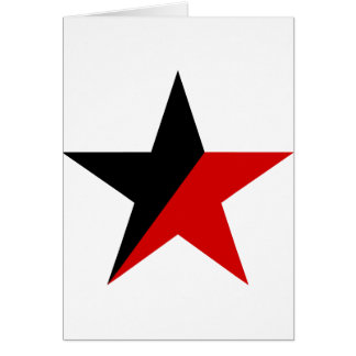 Black and Red Star Anarcho-Syndicalism Anarchism Card