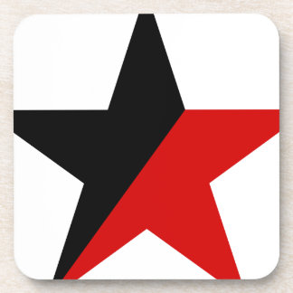 Black and Red Star Anarcho-Syndicalism Anarchism Coaster