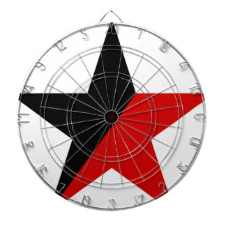 Black and Red Star Anarcho-Syndicalism Anarchism Dartboard
