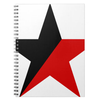 Black and Red Star Anarcho-Syndicalism Anarchism Notebook