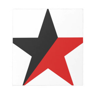 Black and Red Star Anarcho-Syndicalism Anarchism Notepad