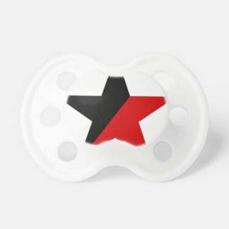 Black and Red Star Anarcho-Syndicalism Anarchism Pacifier