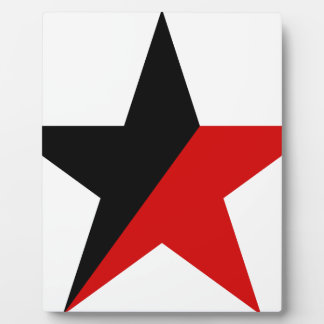 Black and Red Star Anarcho-Syndicalism Anarchism Plaque