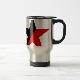 Black and Red Star Anarcho-Syndicalism Anarchism Travel Mug