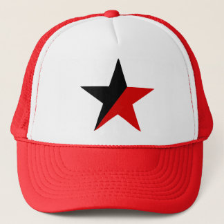 Black and Red Star Anarcho-Syndicalism Anarchism Trucker Hat