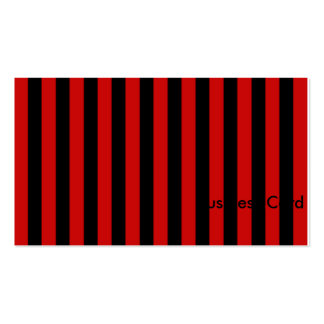 Black and Red Stripe Business Card