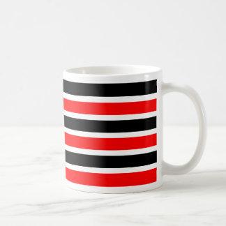 Black and red stripe coffee mug