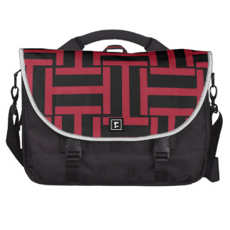 Black and Red T Weave Computer Bag