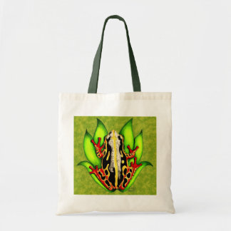 Black and Red Tree Frog Budget Tote Bag